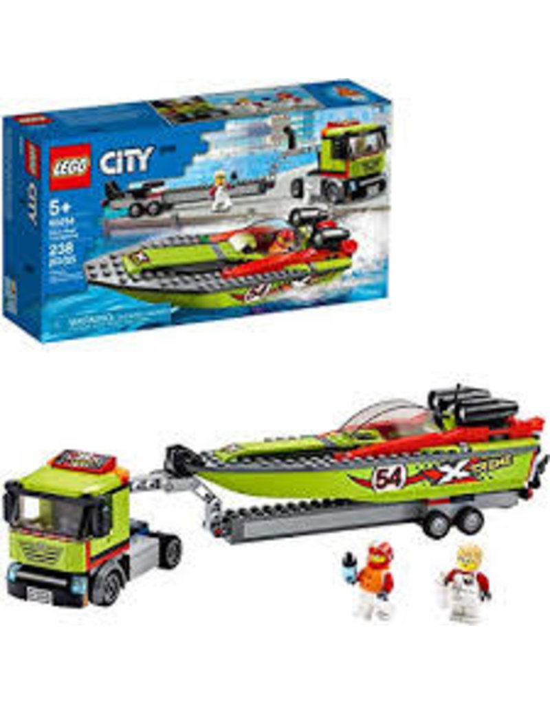 LEGO City Great Vehicles Race Boat Transporter