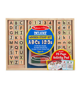 Deluxe Wooden Stamp Set ABCs - 123s