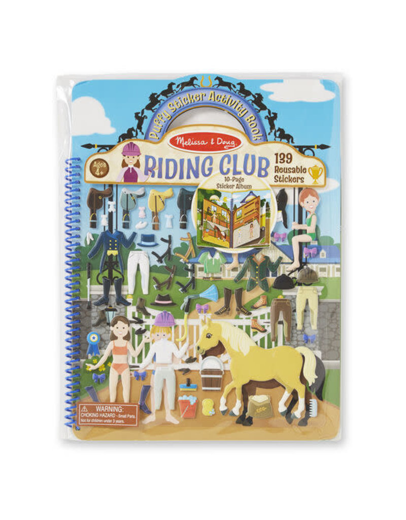 Riding Club Puffy Stickers