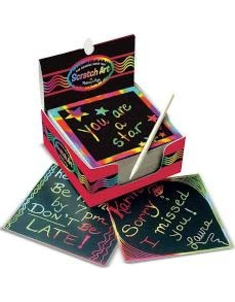 Rainbow Mini Scratch Art Notes