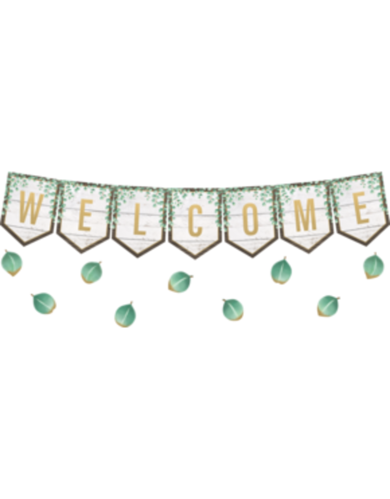 Eucalyptus Pennants Welcome Bulletin Board
