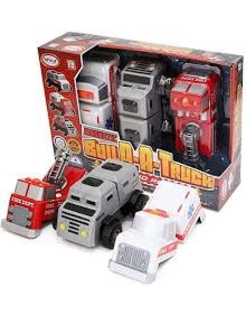 Magnetic Build-a-Truck Fire and Rescue