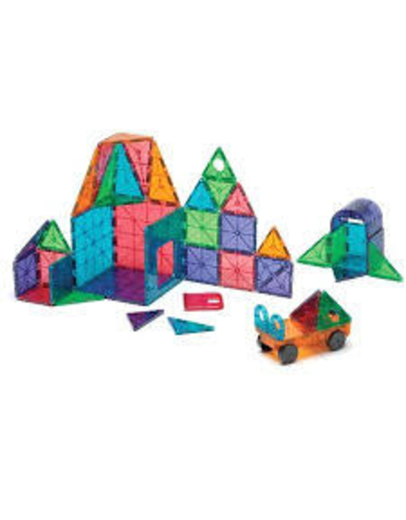 Magna-Tiles Clear Colors 48 Piece DX Set - size: 18.5 x 2.5 x 13 inches