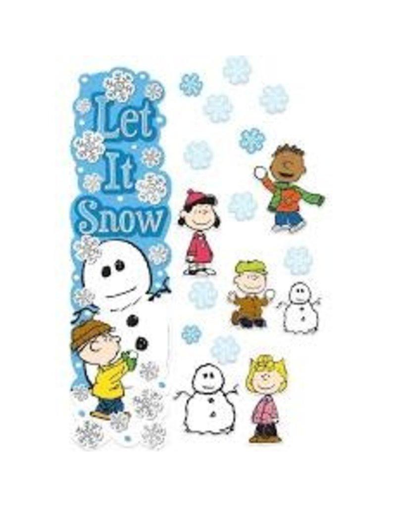 Peanuts Winter Door Decor