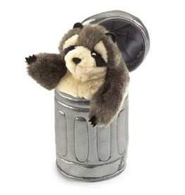 Racoon In Garbage Can Puppet