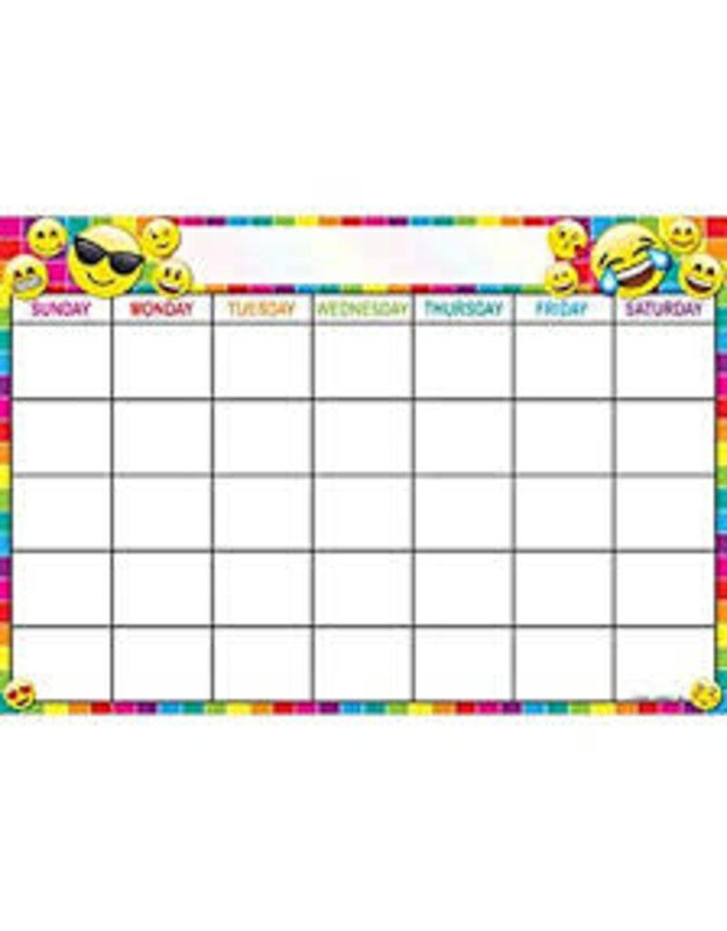 Calendar Emoji Smart Poly Chart 17 x 22