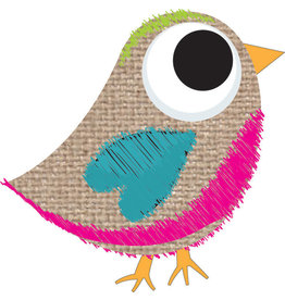 Magnetic Whiteboard Eraser Scribble Burlap Bird