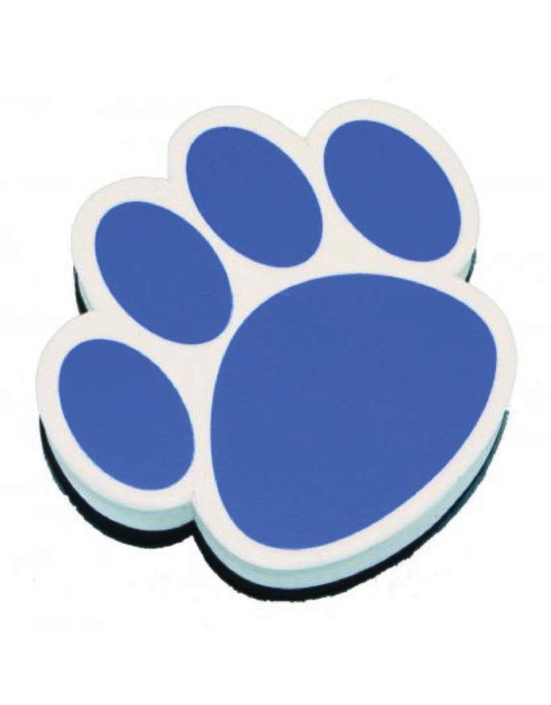 Magnetic Whiteboard Eraser Blue Paw