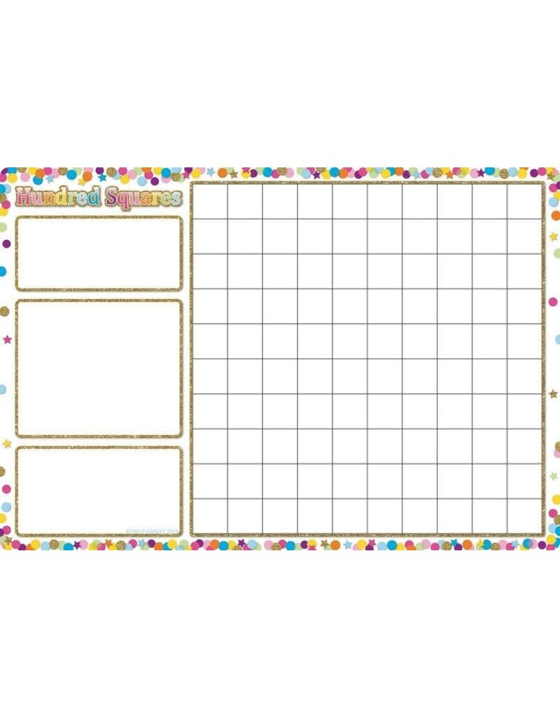 Confetti Hundred Squares Poly Chart