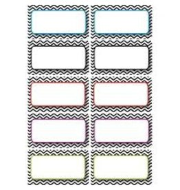 Chevron Black and White Nameplates Magnetic 10 pcs