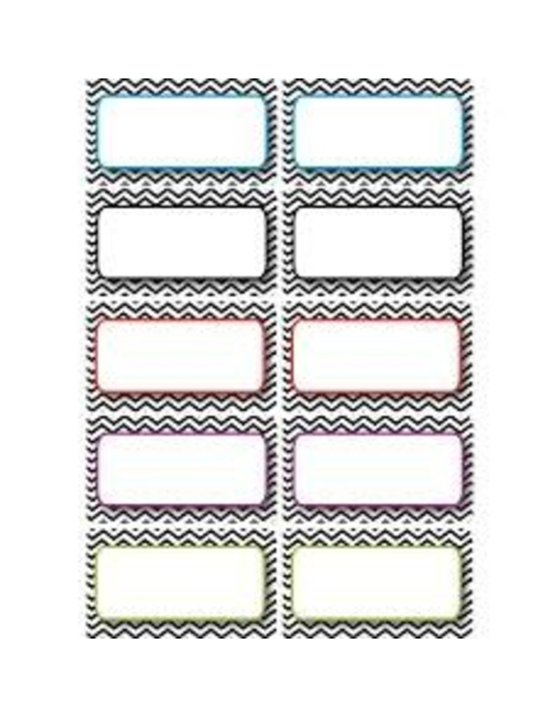 Chevron Black and White Nameplates Magnetic 10 pcs