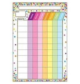 Confetti Chore Chart Poly Chart 13 x 19