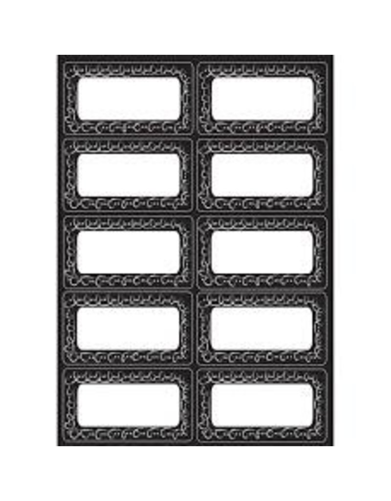 Magnetic Nameplates  Chalk Dotted Loops 10 pcs