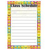 Emoji Class Schedule Poly Chart 13 x 19