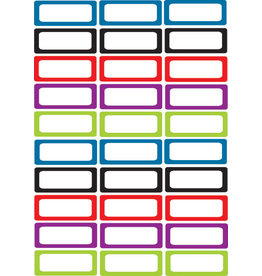 Solid Colors Asst Small Nameplates Magnetic 30 pcs