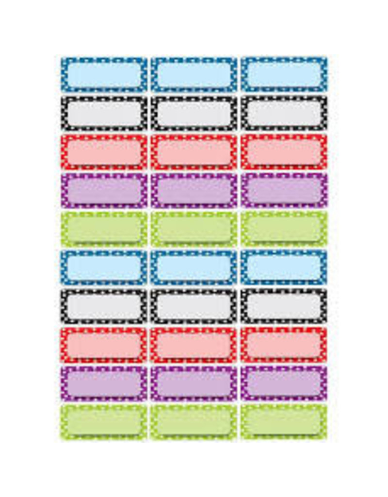 Color Dots Asst Colors Small Nameplates Magnetic 30 pcs
