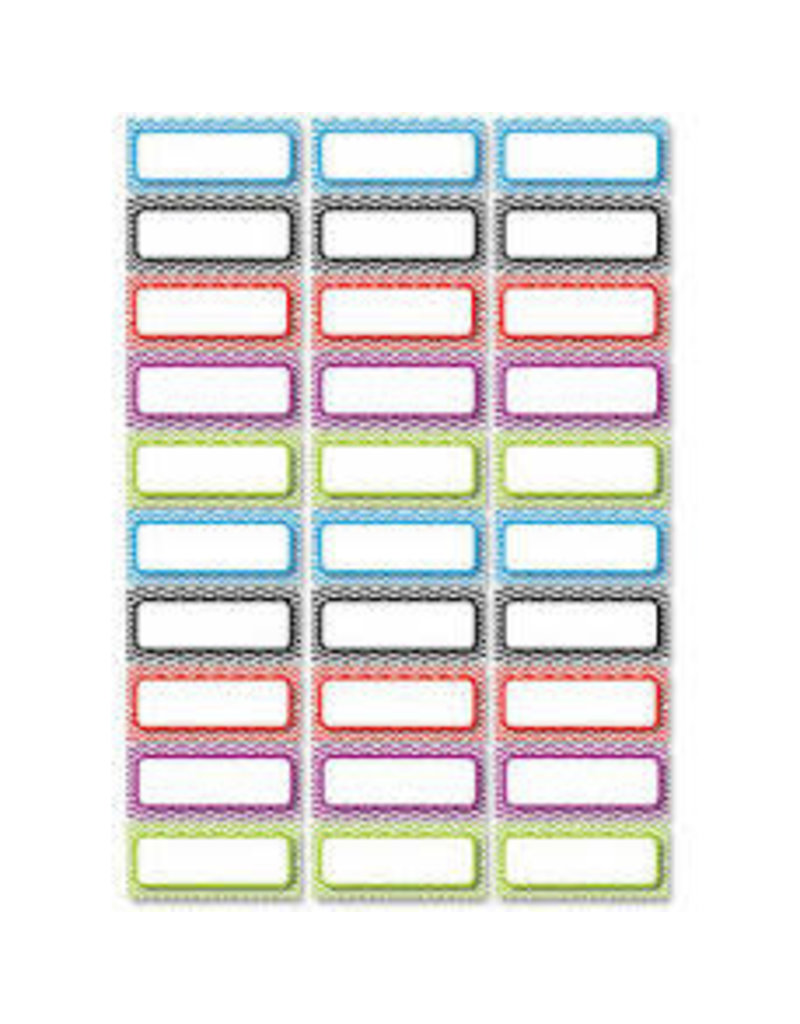 Chevron Asst Colors Small Nameplates Magnetic 30 pcs
