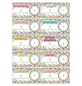 Confetti Magnetic Schedule Cards