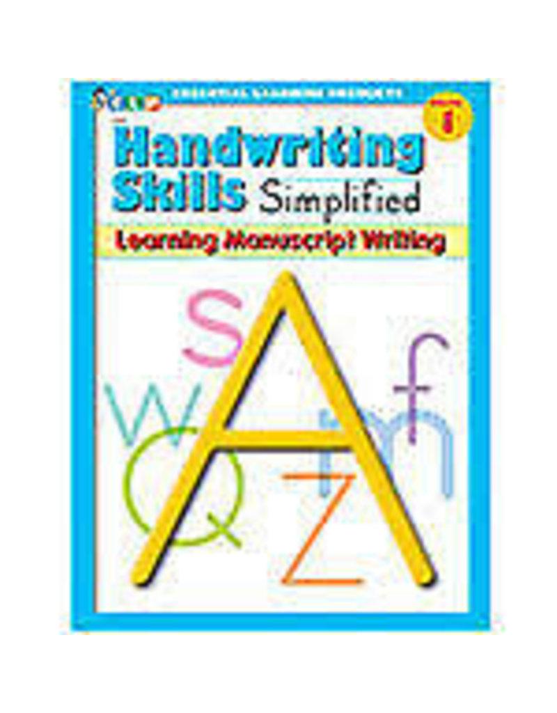 Handwriting Skills Learning Manuscript Grade 1