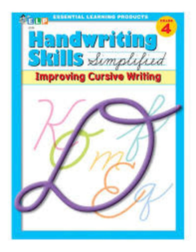Handwriting Skills  Improving Cursive Grade 4