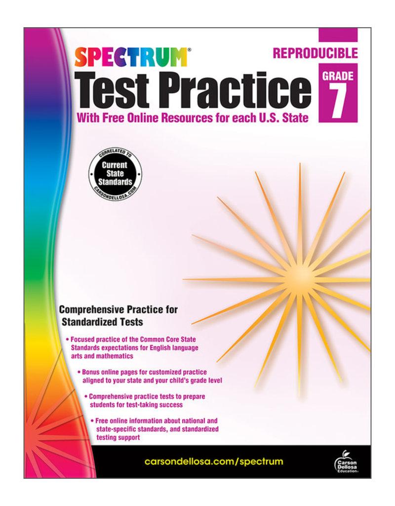 *Spectrum Test Practice Grade 7