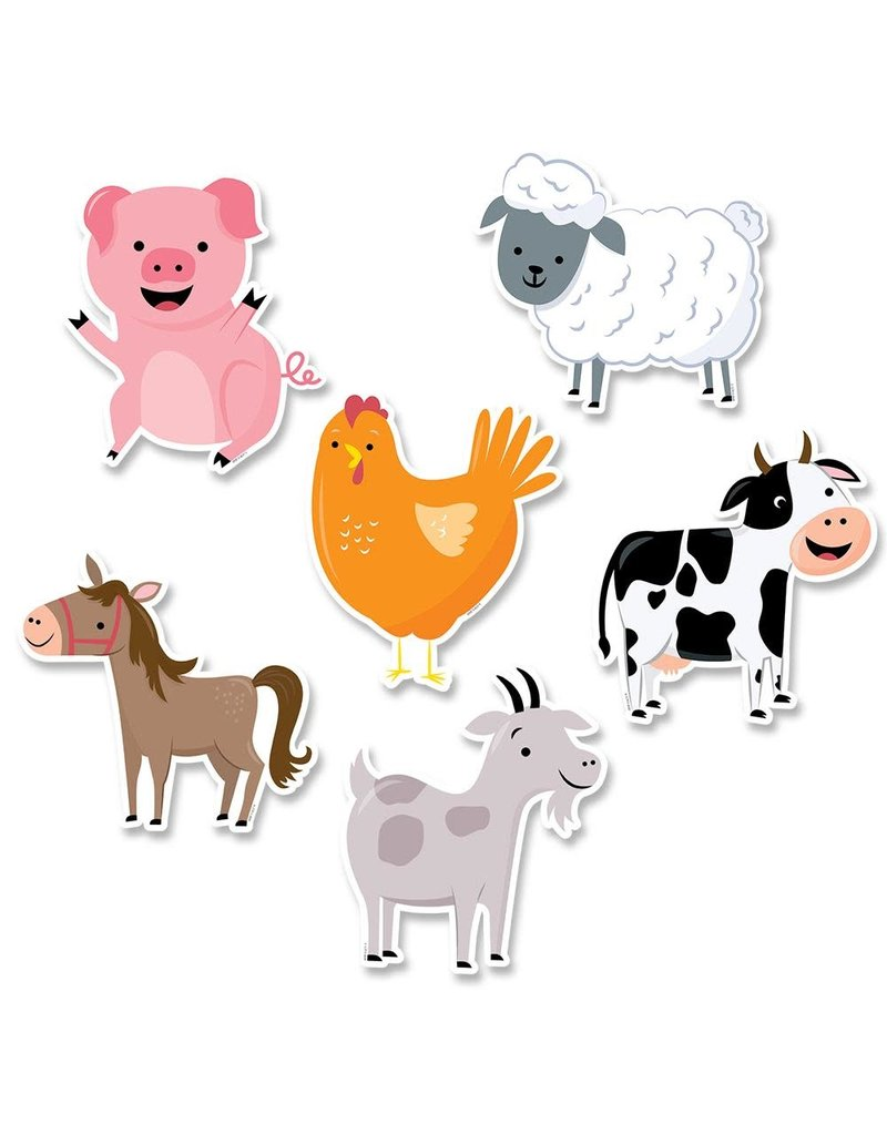 "Farm Friends 6"" Cut-Outs"