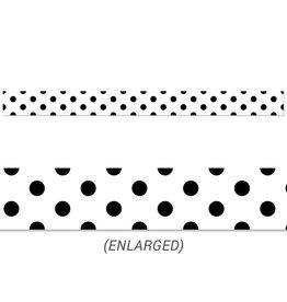 Black Polka Dots Border