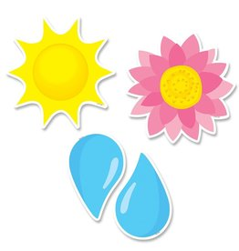 """Sunny Blooms 6"""" Cut-Outs"""