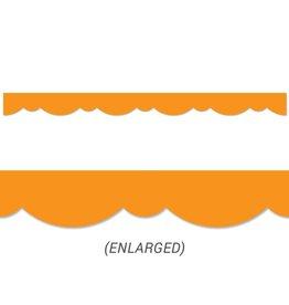 Orange Stylish Scallops Border