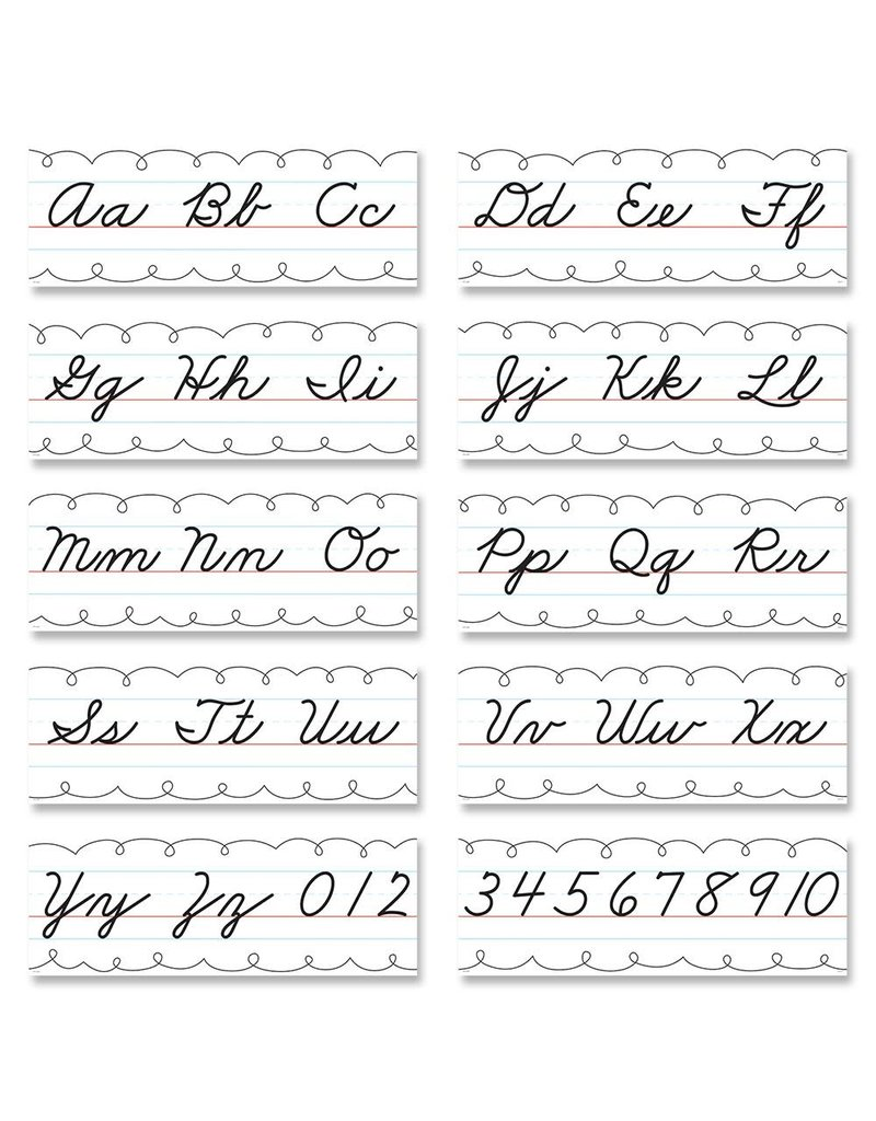 Alphabet Line-Cursive Handwriting Bulletin Bd