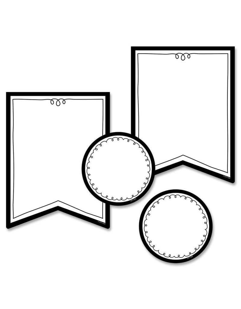 """Pennants 6"""" Cut-Outs"""