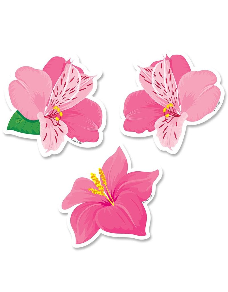 """Pink Blooms 3"""" Cut Outs"""