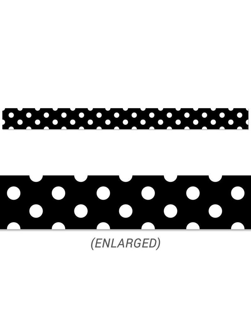 Polka Dots on Black Border