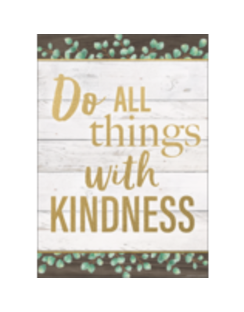 Do All Things With Kindness Positive Poster