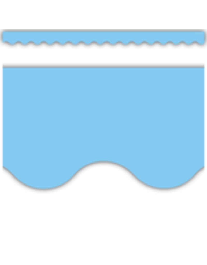 Light Blue Scalloped Border