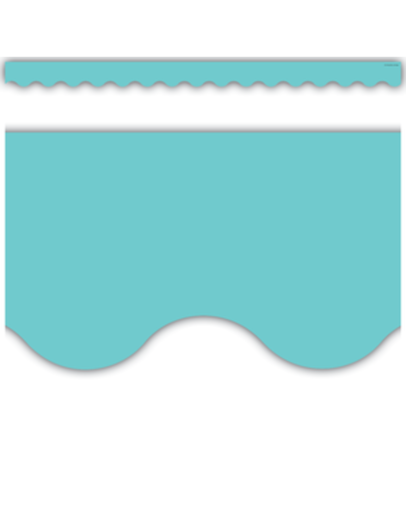 Light Turquoise Scalloped Border