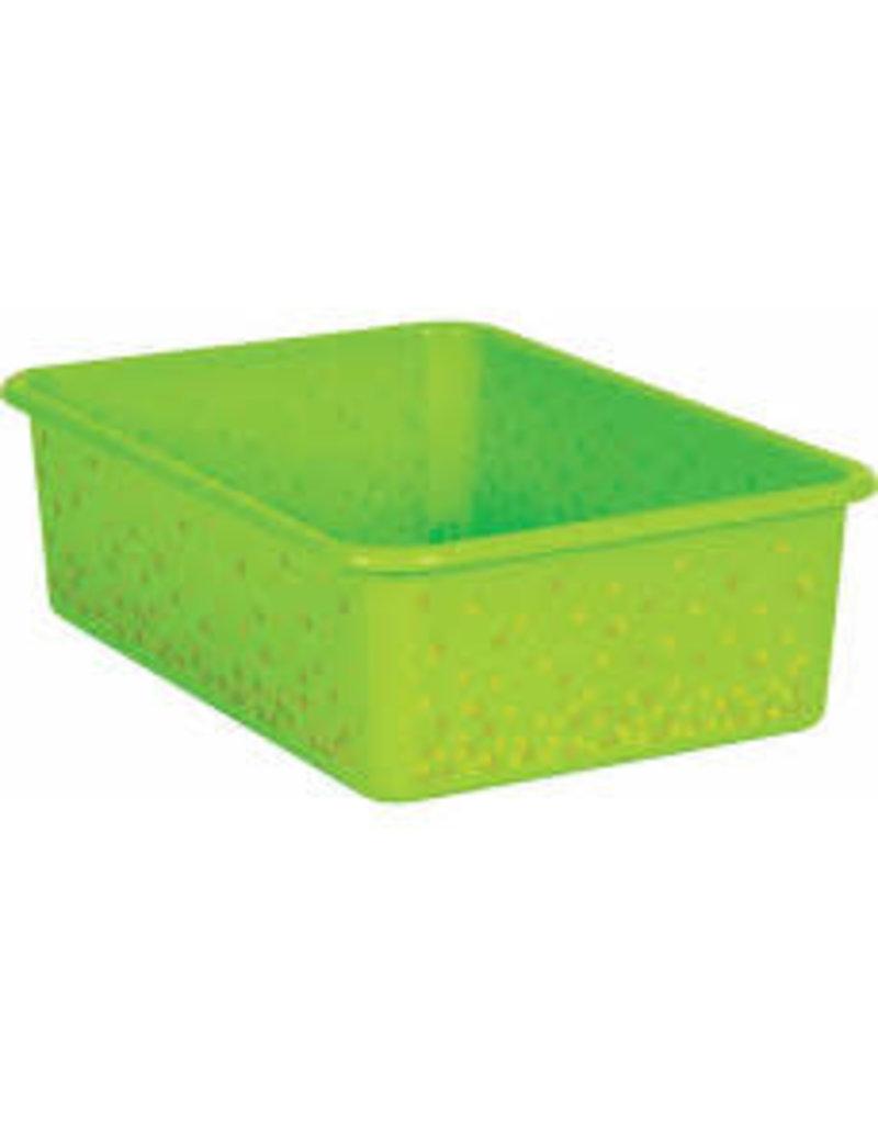 Patterned Large Plastic Storage Bin