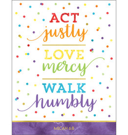 Act Justly Love Mercy Walk Humby Chart