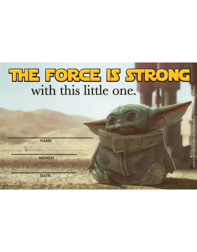 The Mandalorian The Force is Strong with This Little One Recognition Award