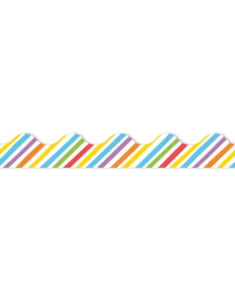 Rainbow Stripes Border Trim
