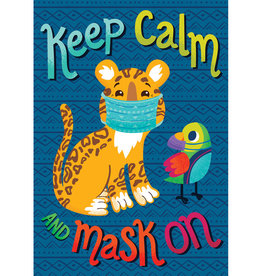 Keep Calm and Mask On Poster