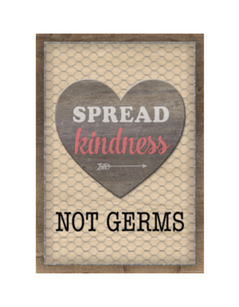 Spread Kindness Not Germs Poster
