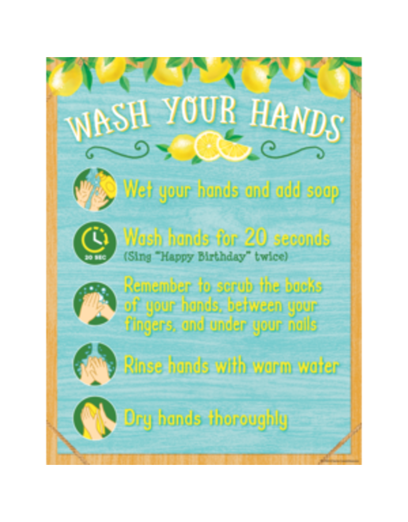 Lemon Zest Wash Your Hands Chart
