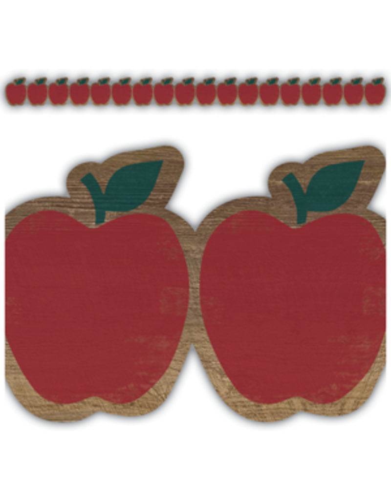 Home Sweet Classroom Apples Die Cut Border Trim