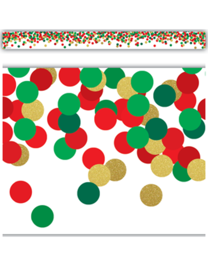 Confetti Christmas Straight Border Trim