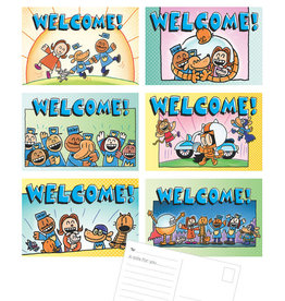 Dog Man Welcome Postcards