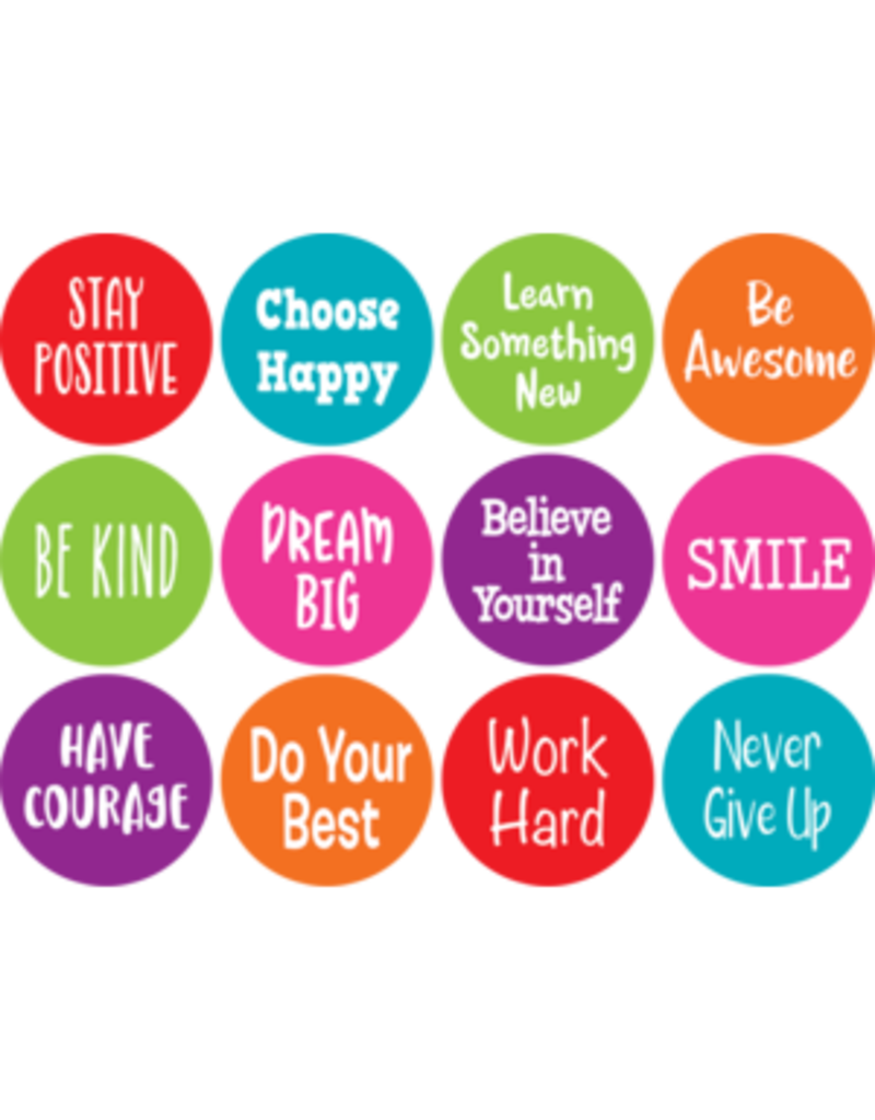 """Spot On Positive Sayings Carpet Markers 4"""""""