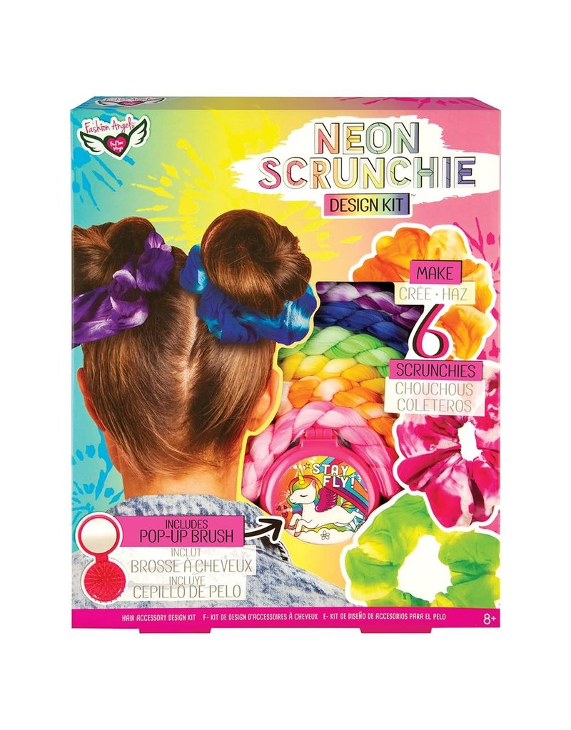 Neon Tied Dye Scrunchie Design Kit