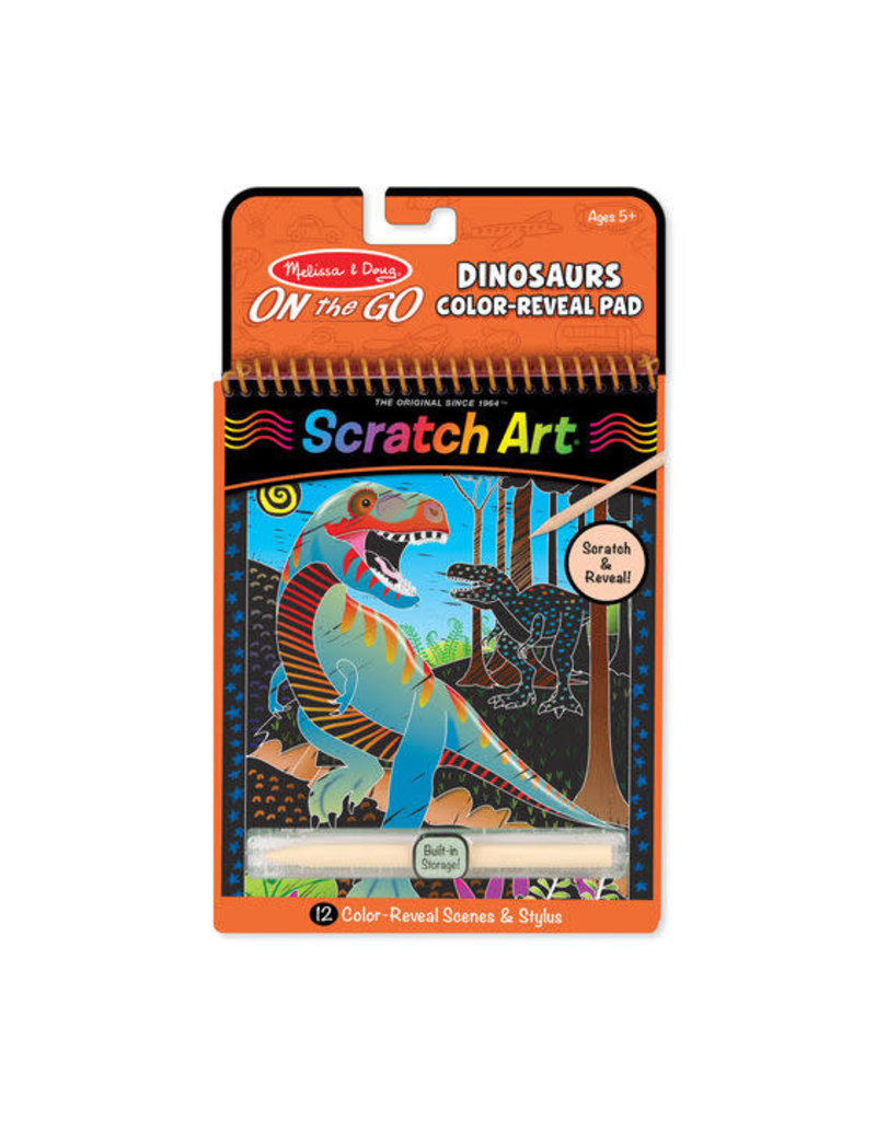 Sketch Art Dinosaur Color-Reveal Pad