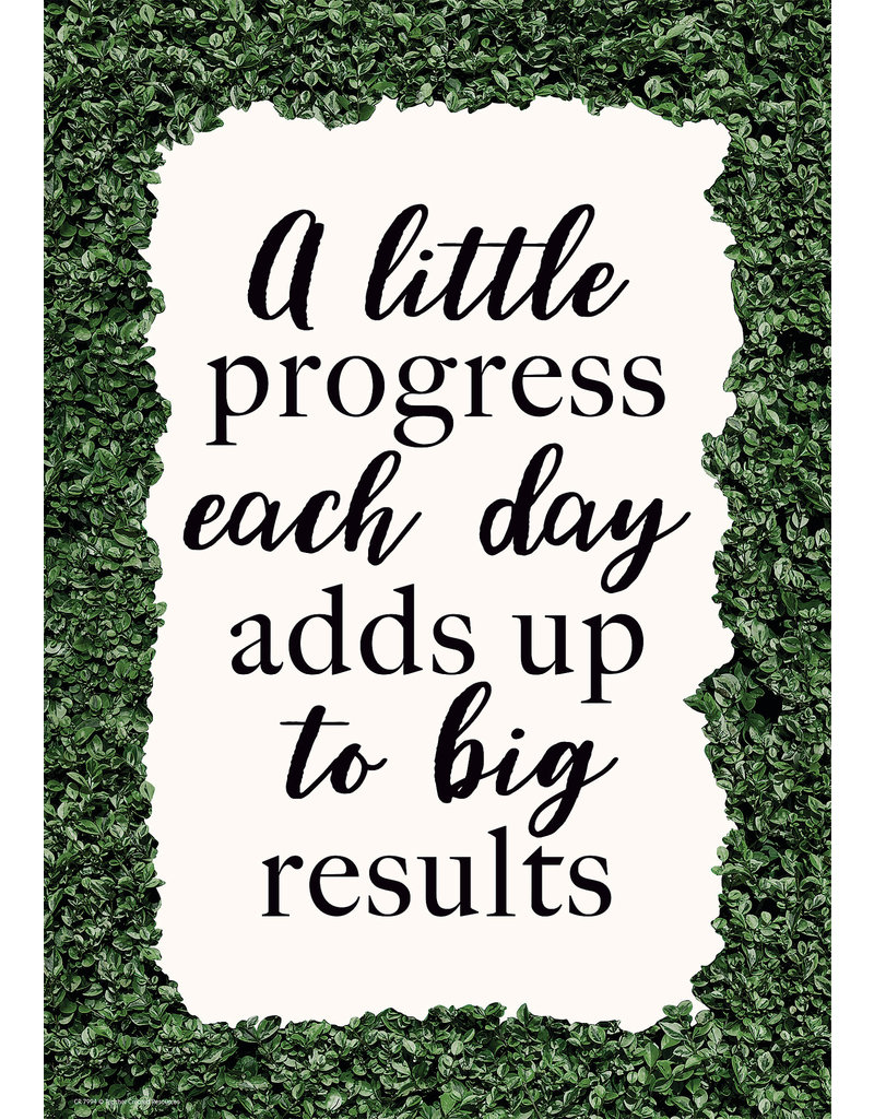 A Little Progress Each Day Adds Up to Big Results Positive Poster